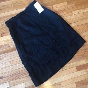 Black , Emanuel ungaro linen skirt
